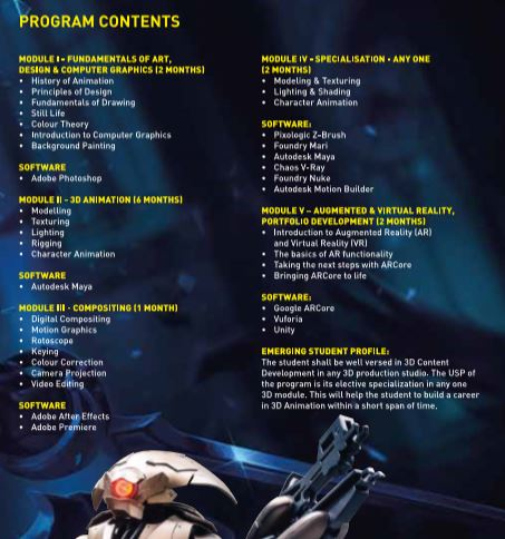 Professional Courses in 2D, 3D Animation, Visual Effects, Editing